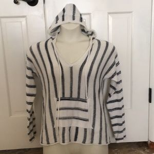 Lovestitch blue striped Hoodie Sweater Medium